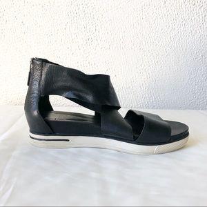 Eileen Fisher Black Leather Sport Sandal Size 6.5